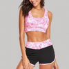 New Items 2018 Cut Out Sports Bra And Shorts Yoga Set Women